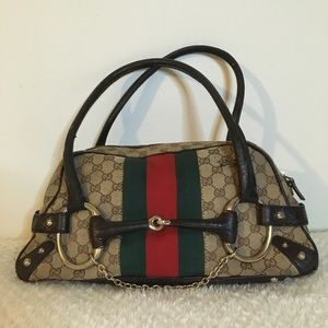 Gucci Monogram GG Horsebit bag